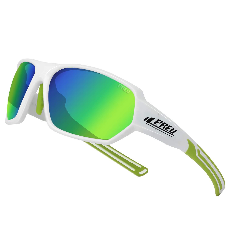 PREU Polarized Sports Sunglasses for Men Women Cycling Running Driving Fishing Golf Baseball Glasses S1503