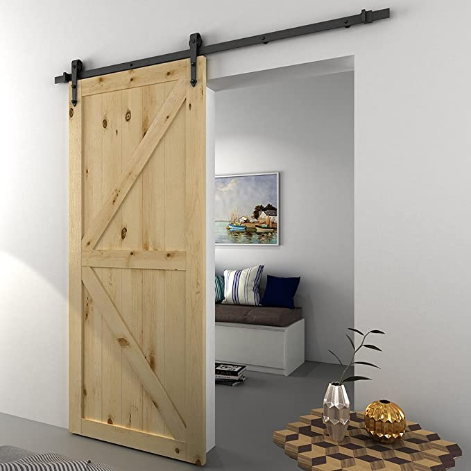 Panana 6 ft moderno puerta corrediza de granero armario sistema de pista de Hardware armario para puerta de madera.: Amazon.es: Bricolaje y herramientas