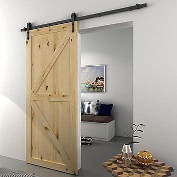 Panana 6 ft moderno puerta corrediza de granero armario sistema de ...