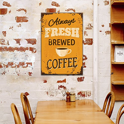 Vintage Poster Style Coffee Art