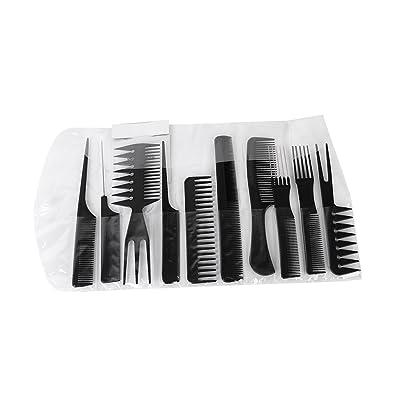10x Peignes Peines Cepillos Comb Salón Peluquería Barbero Peluquero - Negro