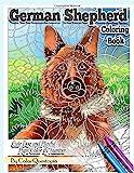 German Shepherd Coloring Book Cute Dog and Playful