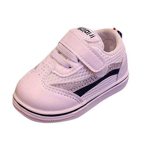 Familizo Zapatillas Bebé Niños niñas Malla Zapatillas Deportivas de Estilo Deportivo para Correr Zapatos Bebe Niña Suela Blanda Cuero Artificial: Amazon.es: ...
