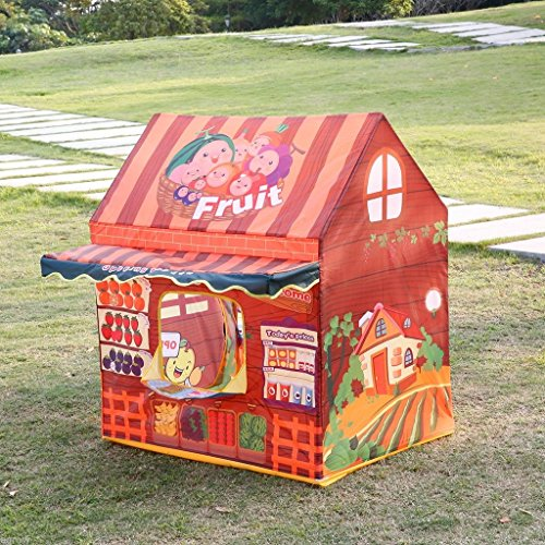 [Large Children Kids Pop Up Fruit shop Play Tent Indoor Outdoor Playhouse Tent US] (Animal That Starts With The Letter N)