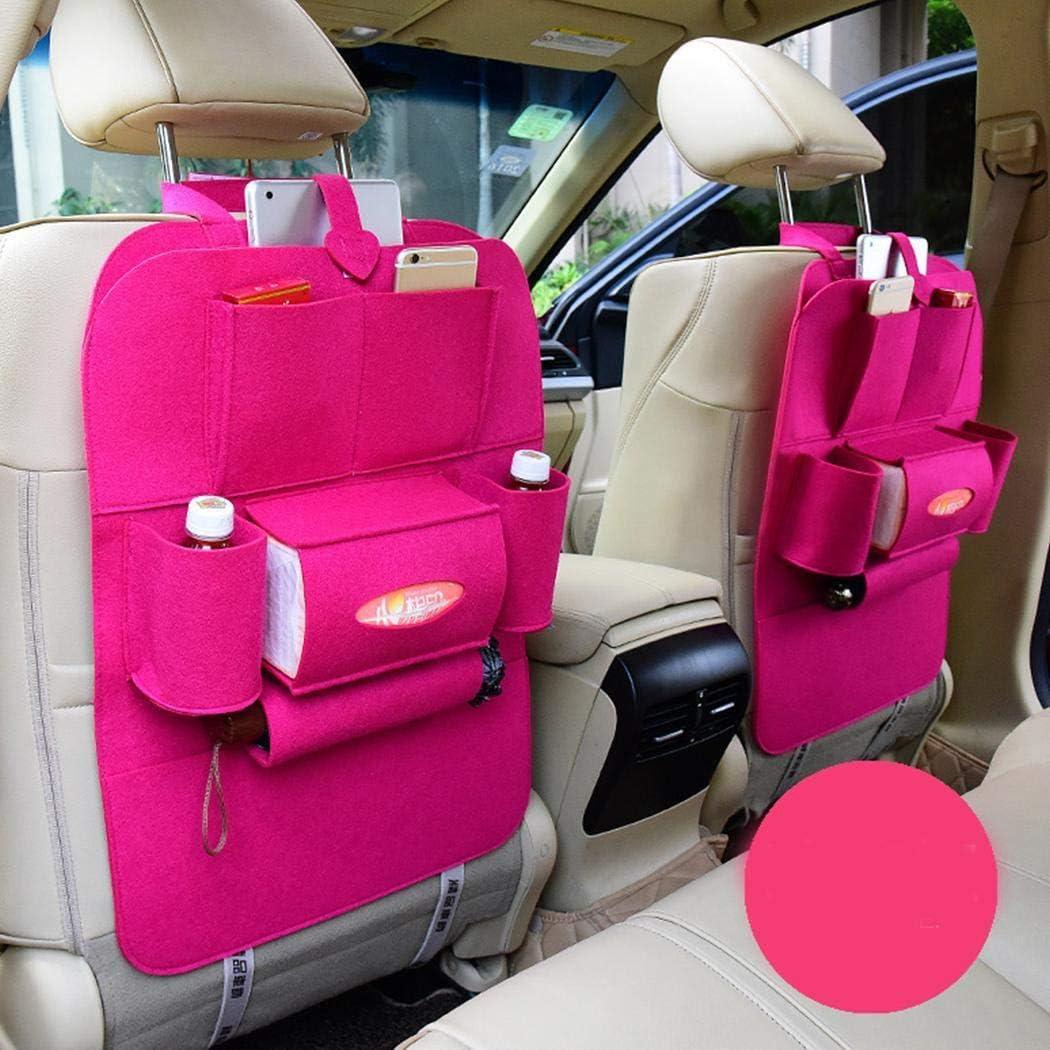 Kloius Autositz-Aufbewahrungstasche Auto-Filzh/üllen mit mehreren Taschen Organizer-Aufbewahrungshalter Kofferraumtaschen
