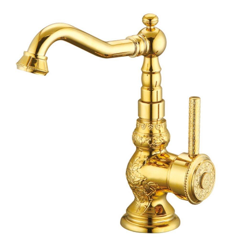 Decorry (Wasserhahn, Kupfer, Europäischen Tisch, Untere Becken, Ein Loch, Kalten Und Warmen Wasserhahn Becken, Spülbecken, Niedrig - Gold.