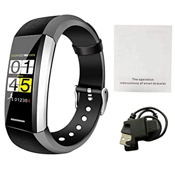 colinsa Montre Connectée, Bluetooth Smartwatch étanche IP67,Tracker dActivité Sport Smart Watch