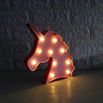 led night light lamp kids marquee letter lights unicorn shape signs light up christmas party wall - Marquee Letter Lights