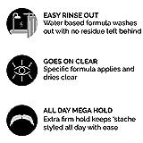 Zeus Mustache Styling Wax, Mega Hold - Water