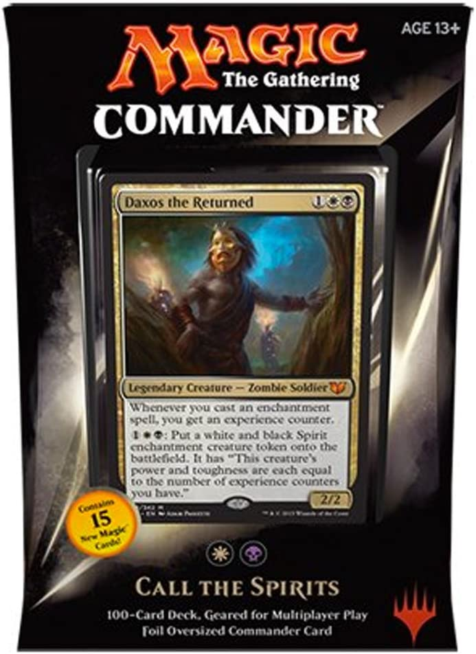 Amazon Com Mtg Commander 2015 Edition Magic The Gathering Call The Spirits White Black Deck New Sealed Toys Games The gathering variant format that emphasises social interactions, interesting games, and creative deckbuilding. mtg commander 2015 edition magic the gathering call the spirits white black deck new sealed