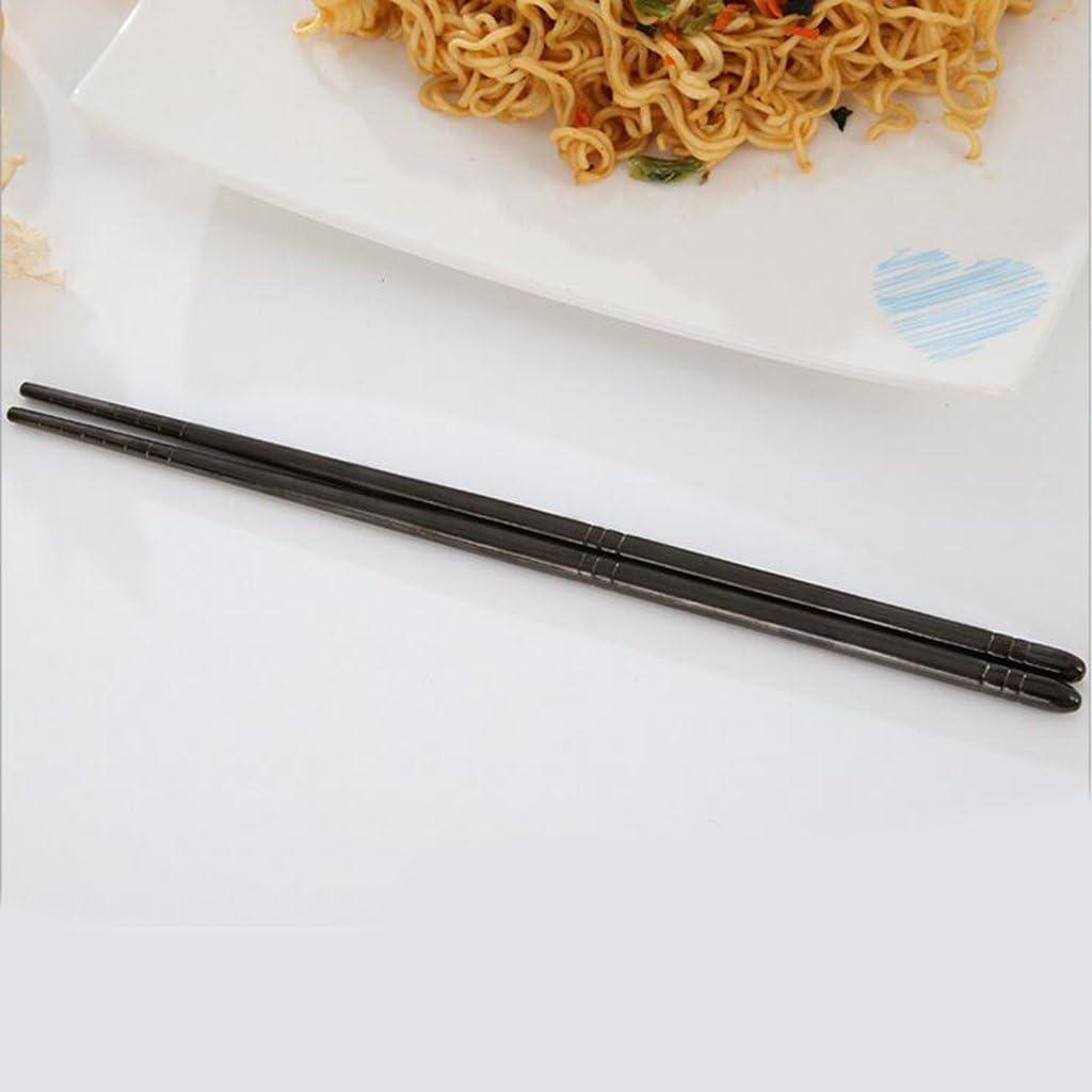 22,5 Centimetri Nero 4 Colori Disponibili HomeDecTime Set di Bacchette da 1 Paio Posate Riutilizzabili per Bacchette Cinesi//Giapponesi//Coreane