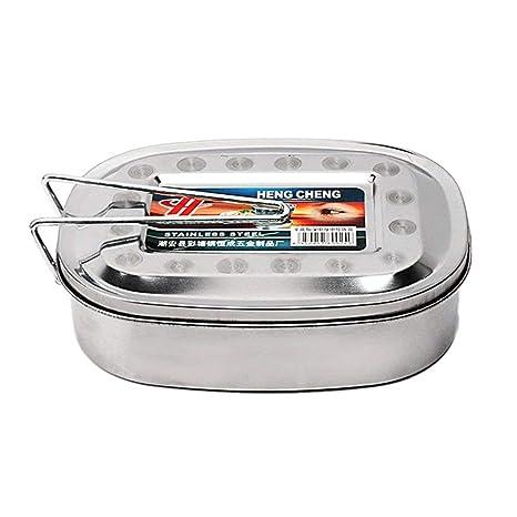 2x Mato Vesperbox Edelstahl Proviantdose Lunchbox Brotzeitdose Vesperdose Frühstücksbox Brotdose