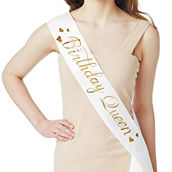 Amazon Birthday Queen Sash