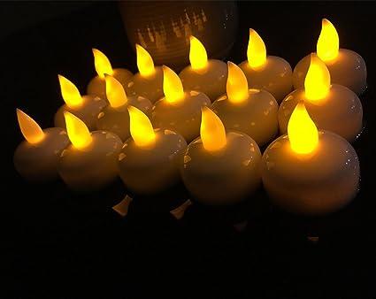 Amazon Flameless Candles Bulk 12pcs Amber Floating Candles For