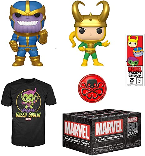 Funko Marvel Collector Corps Subscription Box, Marvel 80th Anniversay Theme, September 2019, Small T-Shirt: Amazon.es: Juguetes y juegos