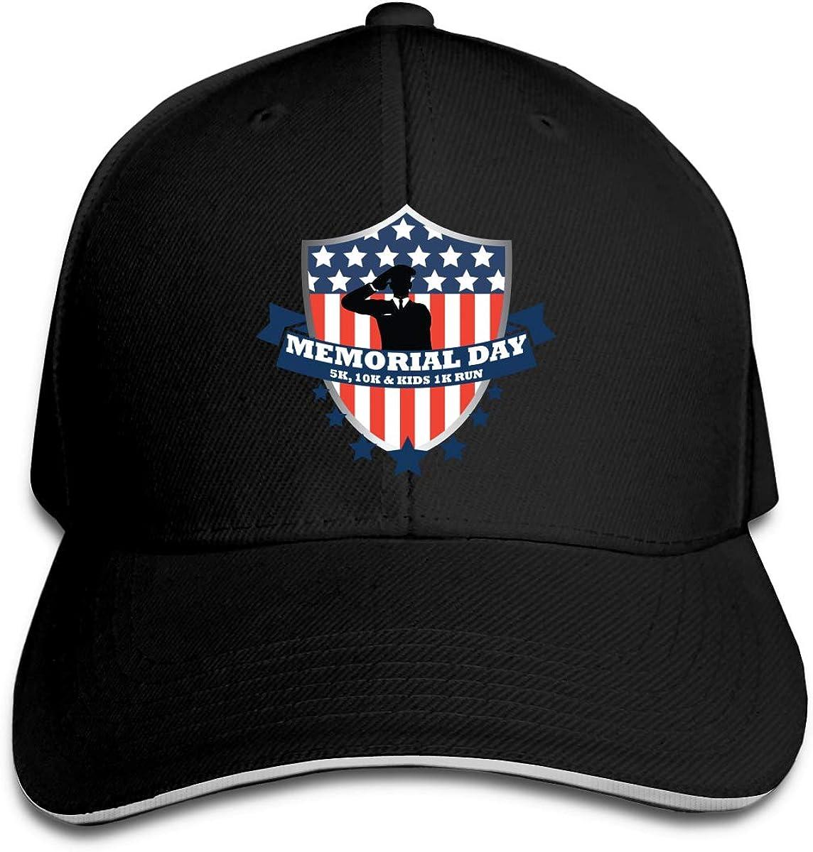 Memorial Day Classic Adjustable Cotton Baseball Caps Trucker Driver Hat Outdoor Cap Black