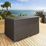 Luxury Outdoor Garden Black Rattan Storage Box / Cupboard / Chest New