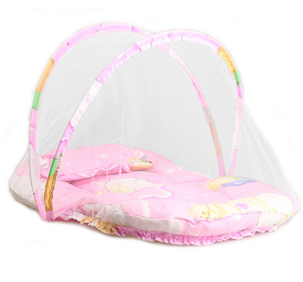 Portable Baby Infants Crib Netting Chinese Mosquito Insect Net Baby Safe Bedding Netting Baby Cushion Mattress with Pillow xff