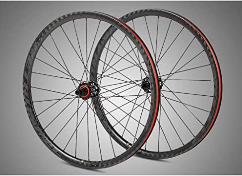 BIKERISK MTB Carbon Rueda de Bicicleta de montaña Fibra Establece ...