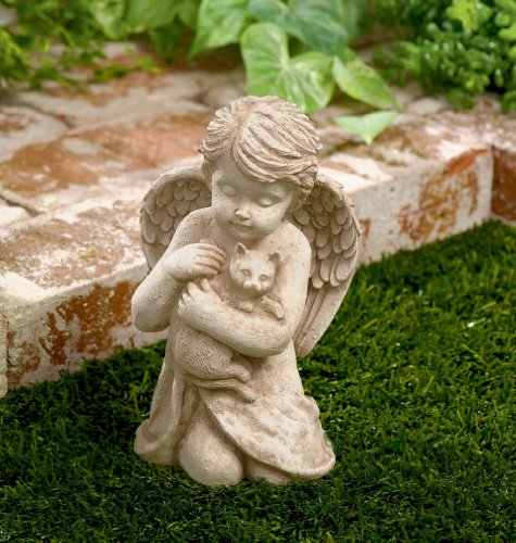 Grasslands Road Cherub with Cat, 7-Inch, Gift Boxed by Grasslands Road (Image #1)