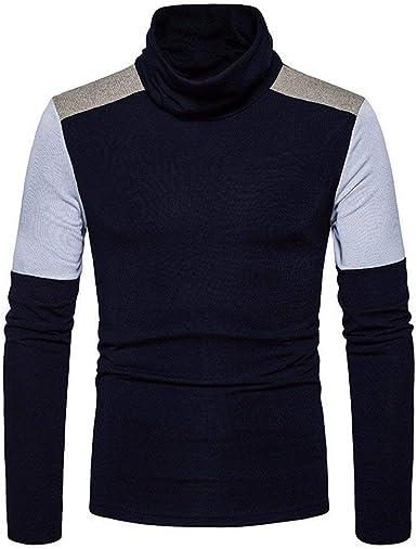 Camisa De Cuello Alto De Color Los De De Moda Hombres De Moda Joven De Los Hombres Camisa De Manga Larga De Elegante De Moda De Invierno De Los Hombres: Amazon.es: Ropa