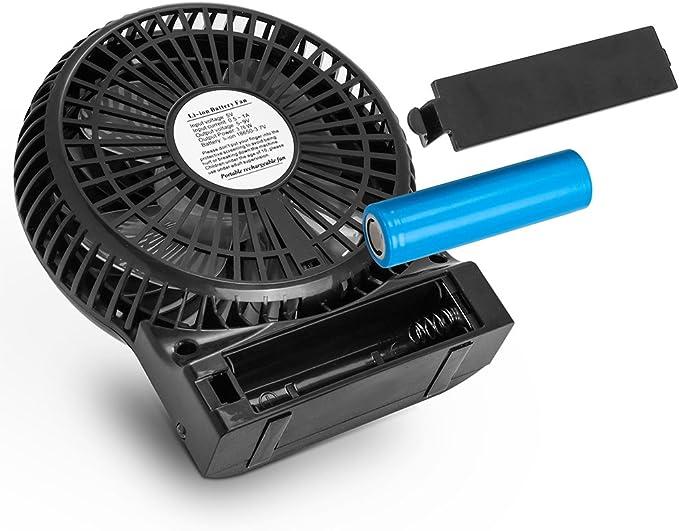 KooPower Mini ventilador USB portátil de escritorio, con pila ...