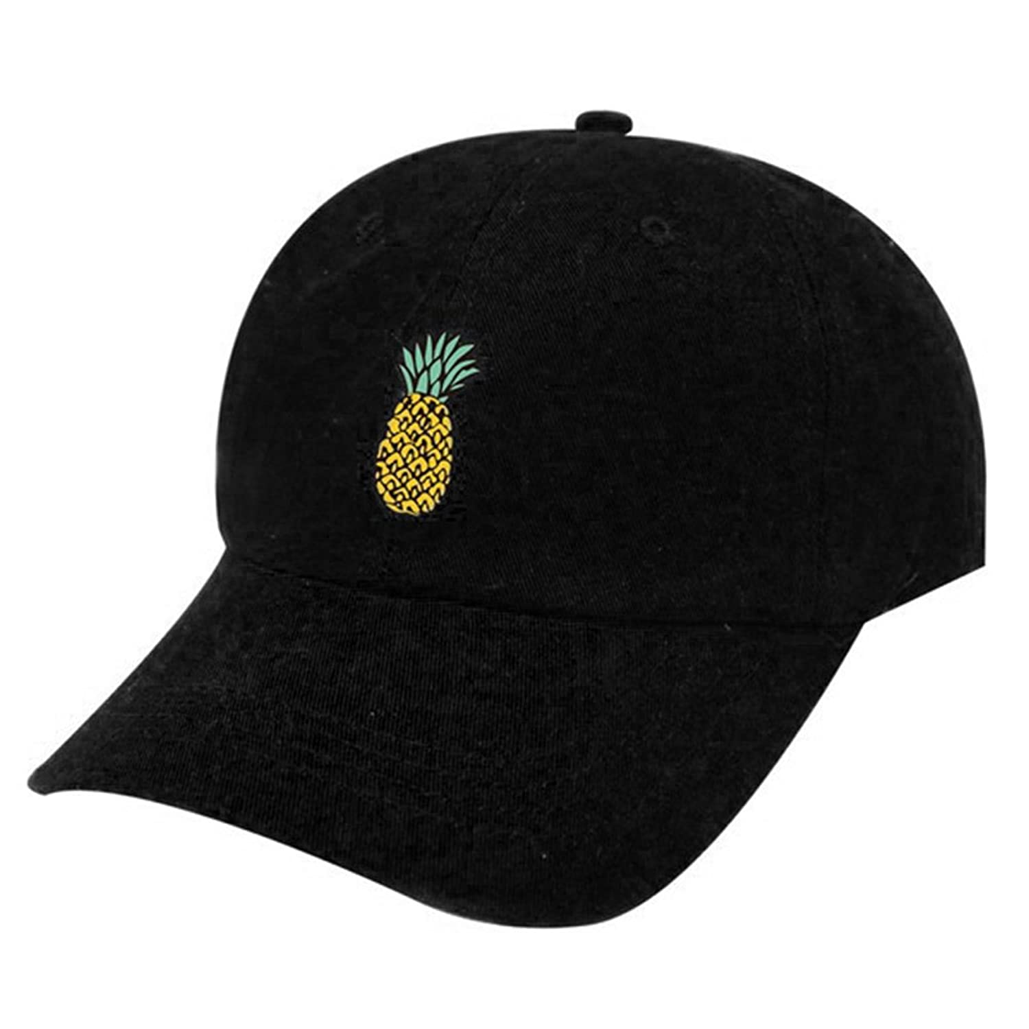 Butterfly Iron Pineapple Printed Cotton Adjustable Baseball Caps for Boys Girls
