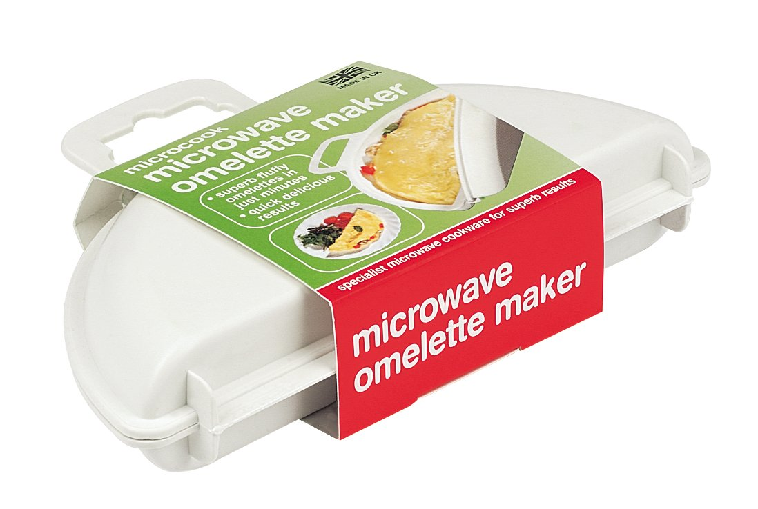 Microcook - Contenitore in plastica per cuocere al microonde omelette da 2 uova MWEG0031