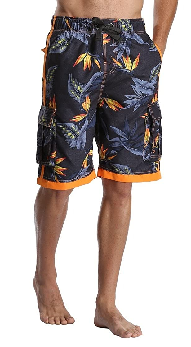 31c5ad96dbf90 DESTTY Men's Quick Dry Beach Board Shorts Printed Swim Trunks Floral Casual Swim  Shorts with Pockets