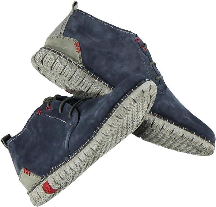 engbers Herren Mid Cut Boots, 27036, Blau in Größe 44