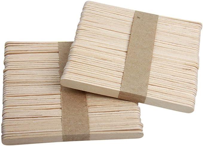 Fannty 50pcs set abat-jour en bois de tatouage d/épilation de langue de b/âtonnets jetables normaux d/épilation /à la cire pour des outils de beaut/é