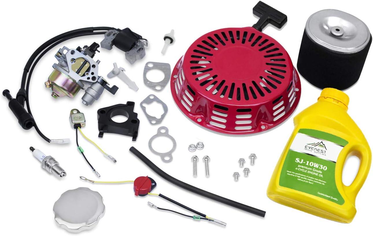 New Tune Up Kit Muffler Fuel Tank Fits Honda GX340 Carburetor Recoil Air Filter