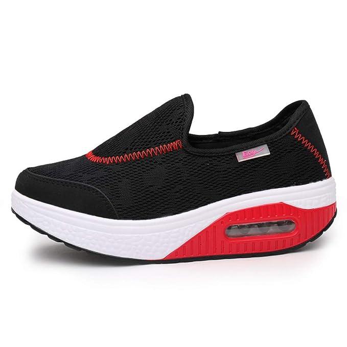 Dragon868 Scarpe Donna Mesh Sneaker Zeppa Gomma Scarpe Comode per Camminare  Stivali Outdoor Mocassini  Amazon.it  Abbigliamento 8bb2d27ff98