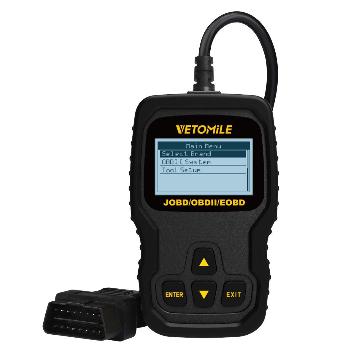 VETOMILE OBD2 Scanner Universal Car Engine Diagnostic Scanner Auto Car Code Reader for JOBD OBD2 EOBD Vehicles (VT127)