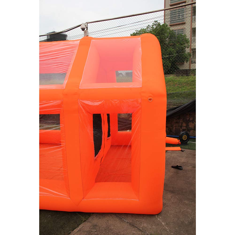 39.3x16.4x13.1 ft Inflatable Paint Booth Mobile Automotive Portable Spray Booths DIY Paint Tent Removable Washable Filter Constant Air Flow