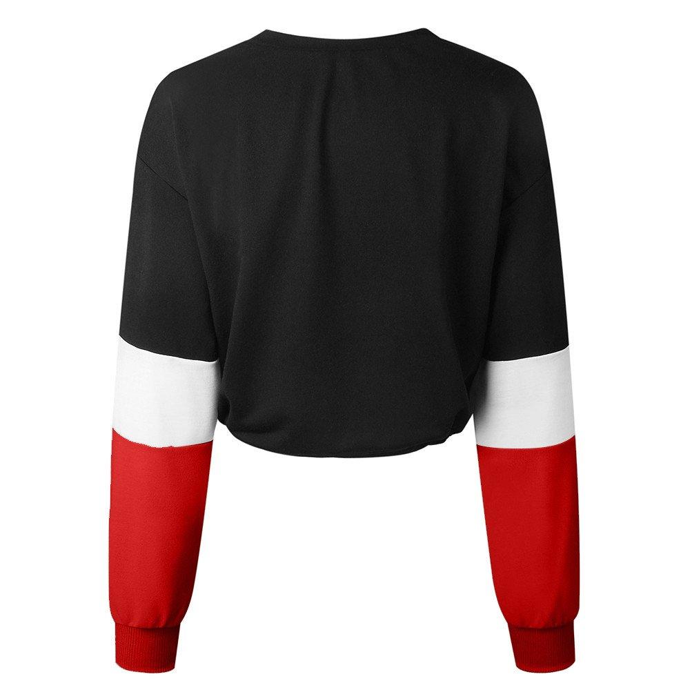 Amazon.com: Womens Sweatshirt t-Shirt Tops Pullover Blouse Linen Splicing o-Neck Long Sleeve Loose Casual Sportswear: Clothing