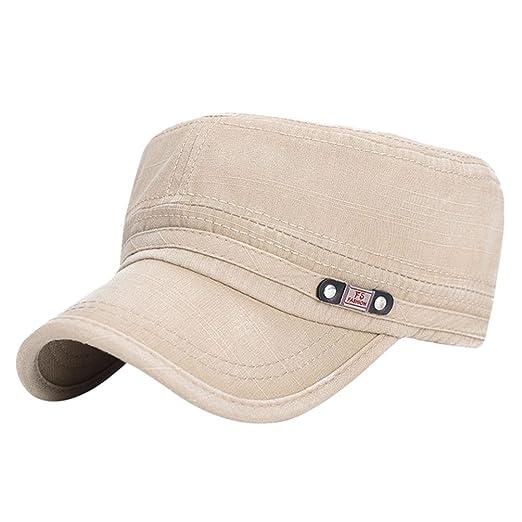 947d15ee802 BCDshop Baseball Cap Men Outdoor Golf Retro Dad Hat Cotton Adjustable Cap  Gift (Beige)