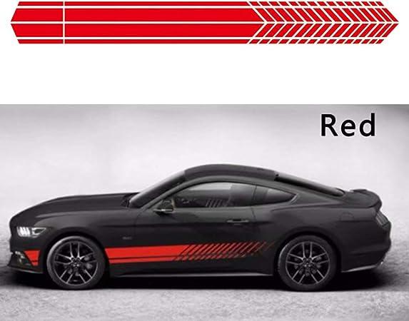Pair Waterproof Auto Car Side Door Body Vinyl Decals Decoration Sticker Stripe