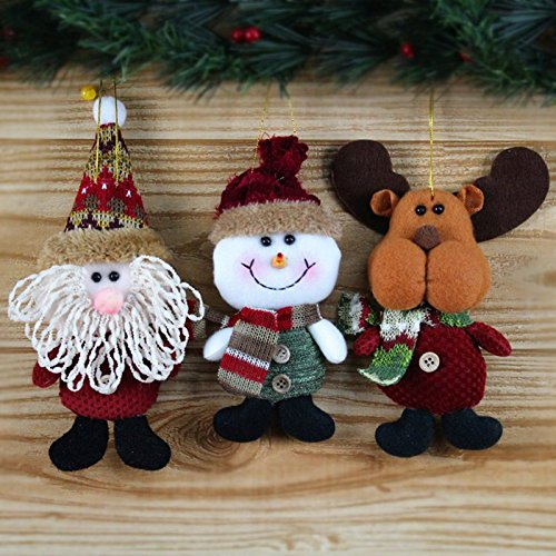 GSN Deer Snowman Pendant Chrismas Tree Christmas Gift Santa claus Christmas Decoration Supplies Arbol De Navidad SS2