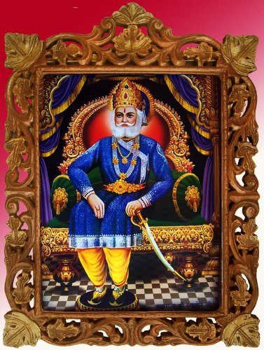 Amazon com - Maharaja Agrasen Poster Painting in Hand Craft