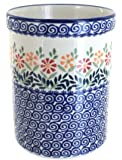 Polish Pottery Garden Bouquet Utensil Jar