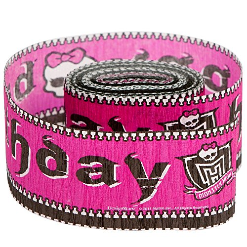 Freaky Fab Monster High Birthday Party Crepe Streamers Decoration (1 Piece), Multi Color, 30' x 1 7/8