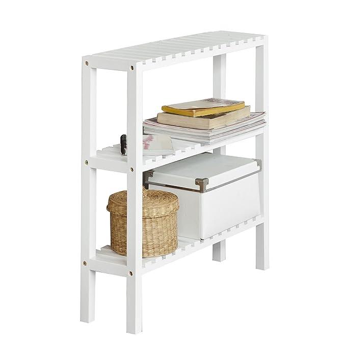 SoBuy® Estantería para baño, estantería de Cocina, estantería para Zapato, estantería de Pared, FRG145-W, ES: Amazon.es: Hogar