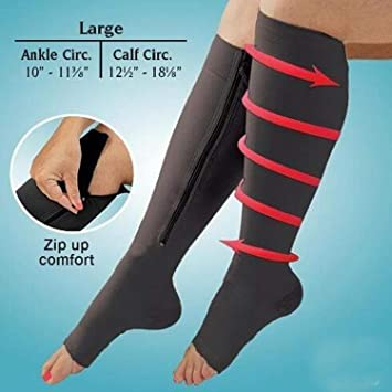 7e6ab20db10f11 1 Pair Varicose Veins Treatment Socks Compression Zipper Socks Women's Slim  Sleeping Leg Shapper Compression Fat