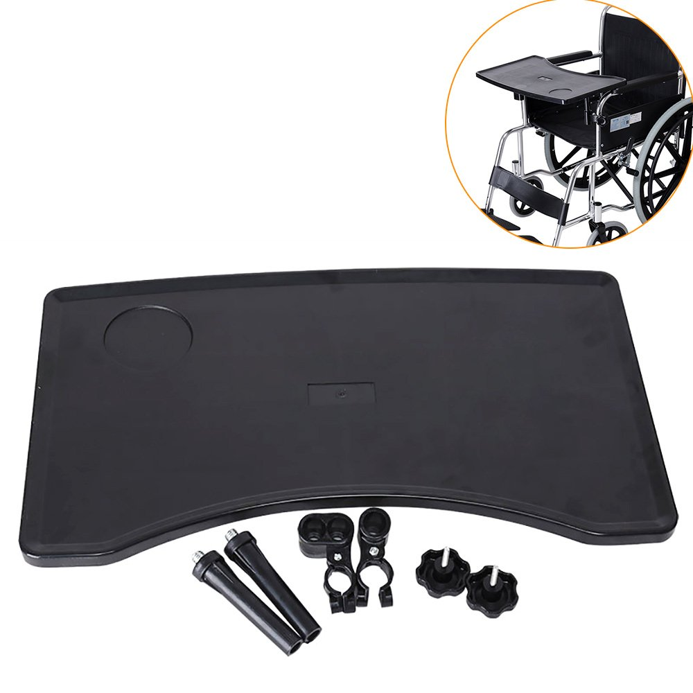 KIKIGOAL Wheelchair Tray Table with Cup Holder for Eating Reading etc