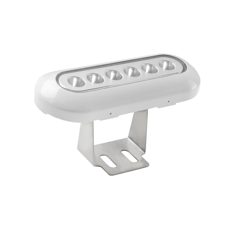 1x QACA SET LED Unterwasserlicht Unterwasserbeleuchtung RGB Unterwasserstrahler Teichbeleuchtung Unterwasserleuchte Wasserdicht IP68 12W 169x66x26mm