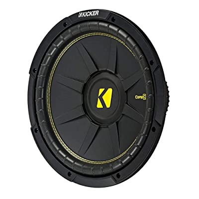 KICKER 10 Inch CompC 500 Watt 4 Ohm Single Voice Coil SVC Subwoofer | 44CWCS104: Industrial & Scientific