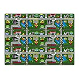 Flagship Carpet Children Learning Floor Playmat Nylon Places To Go - 6' x 6' Toys Christmas Gift