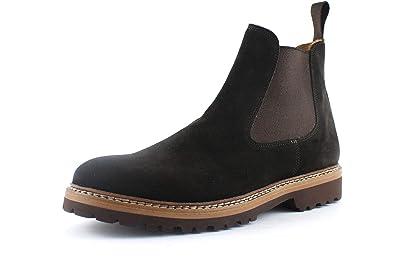 la élégantes habillées Chaussures Cuir Bottes en à Main Fait en Hommes véritable Rea Giorgio pour wCqIWt7x