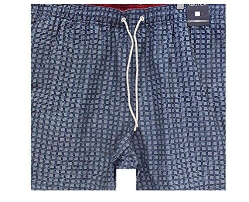 Nautica Print Trunk (Nautica Men's Quick-Dry Dot Print Swim Trunks, Large, True Navy)